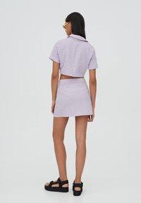 PULL&BEAR - Košile - dark purple - 2