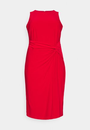 KAVA SLEEVELESS DAY DRESS - Shift dress - orient red