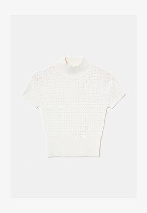 STEHKRAGEN - Print T-shirt - white