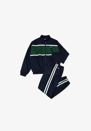 Tracksuit - navy blau / grün / weiß