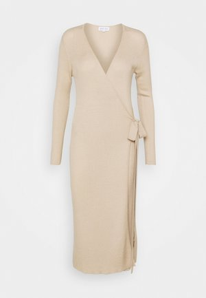 WRAP MIDI DRESS - Vestito estivo - sandstone