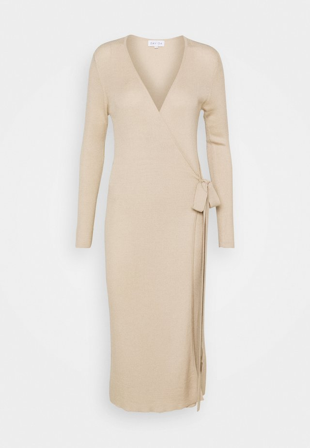WRAP MIDI DRESS - Day dress - sandstone
