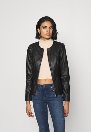 VMZALA SHORT JACKET - Faux leather jacket - black