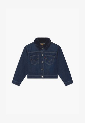 OVERSIZED HIGHRISE TRUCKER - Denim jacket - dark-blue denim