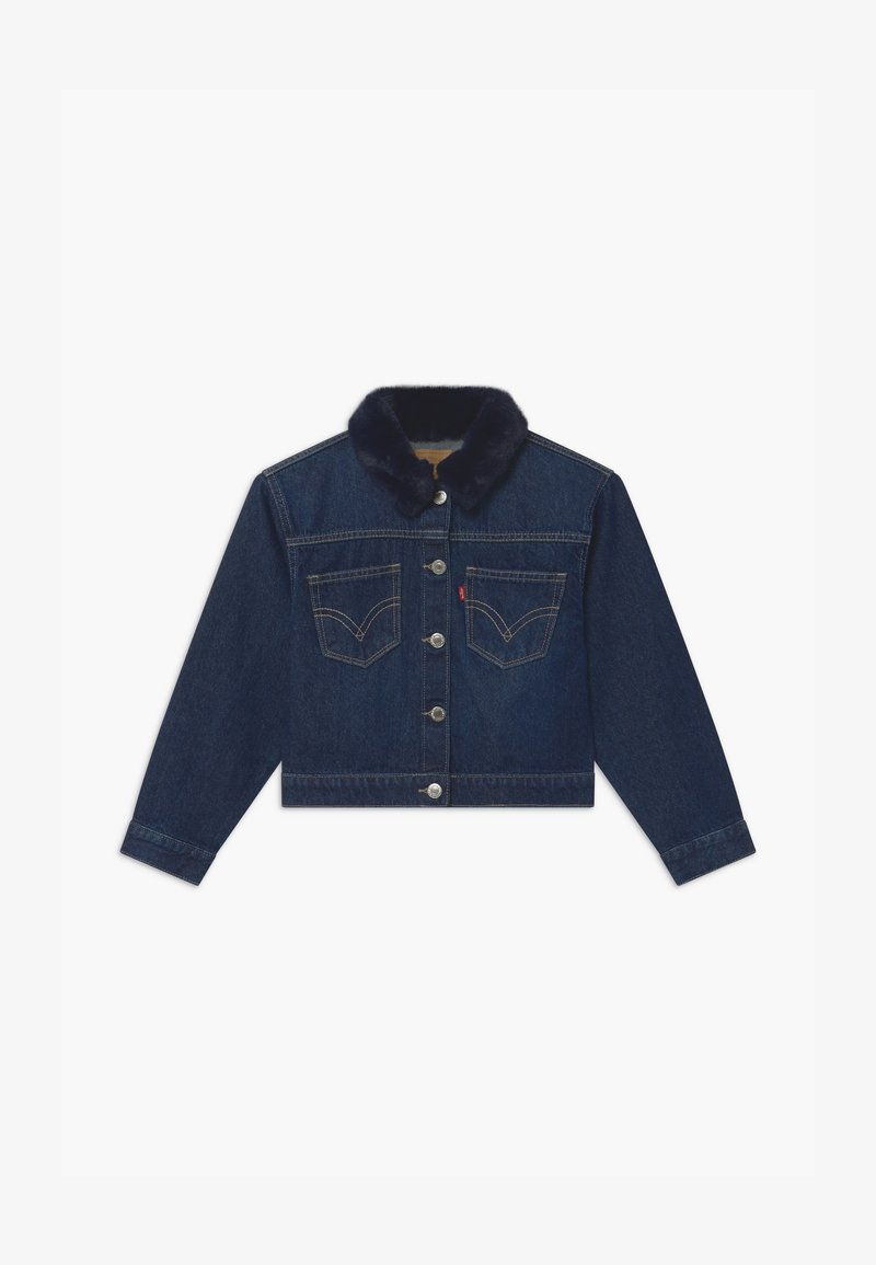 Levi's® - OVERSIZED HIGHRISE TRUCKER - Veste en jean - dark-blue denim