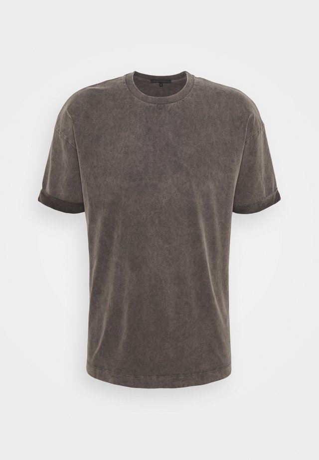 THILO - T-shirt basique - dark grey