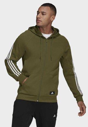 ADIDAS SPORTSWEAR 3-STRIPES HOODED TRACK TOP - Zip-up hoodie - green