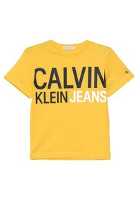 Calvin Klein Jeans - STAMP LOGO - Printtipaita - yellow - 0