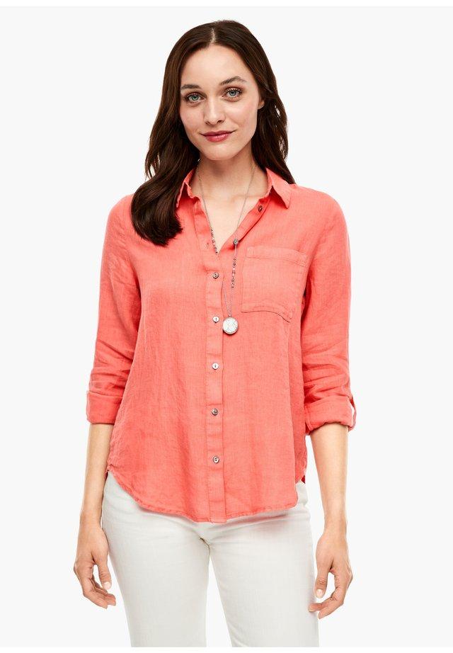LANGARM - Button-down blouse - coral