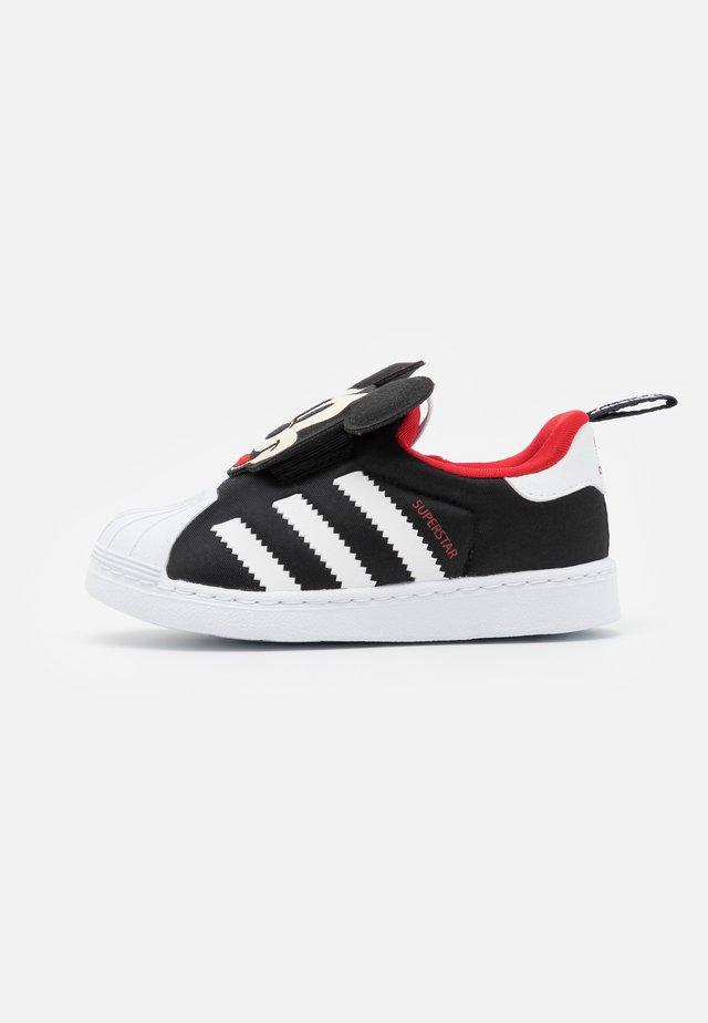 SUPERSTAR 360 UNISEX - Sneakersy niskie - core black/footwear white/vivid red