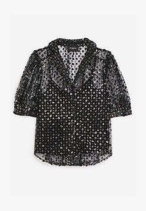 Button-down blouse - black argent