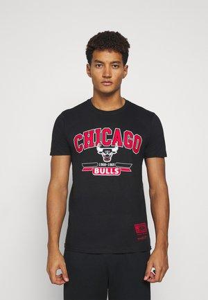 NBA CHICAGO BULLS ARCH LOGO TEE - Club wear - black