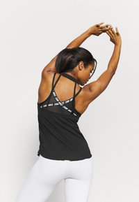 Nike Performance - YOGA CORE COLLECTION TANK - Sports shirt - black/smoke grey - 2