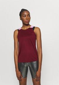 Nike Performance - DRY ELASTIKA TANK - Camiseta de deporte - dark beetroot/beyond pink - 0