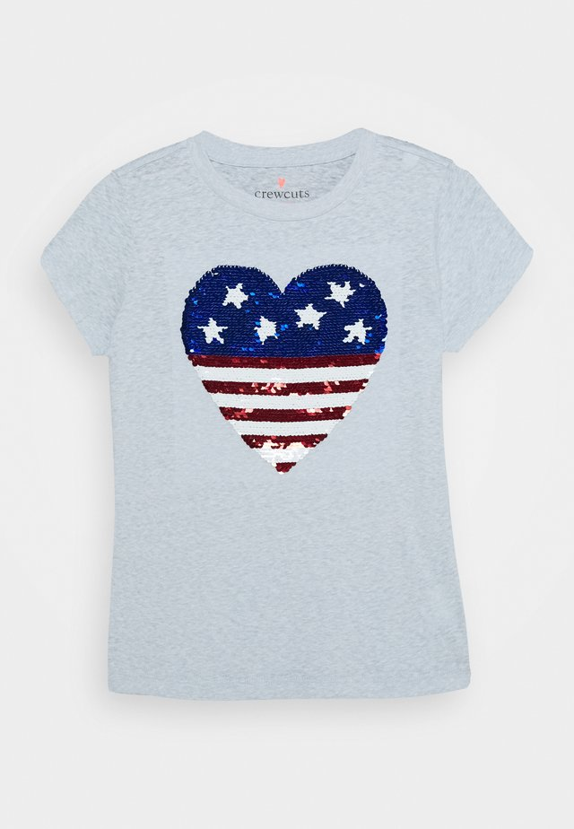 AMERICAN HEART TEE - Camiseta estampada - white