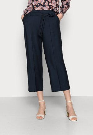 SUMMER PAPERBAG - Trousers - night navy