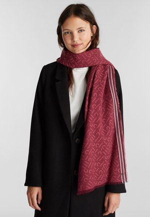 Sjal / Tørklæder - garnet red