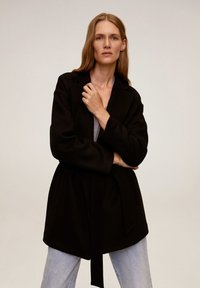 Mango - BREMEN-I - Short coat - black - 0
