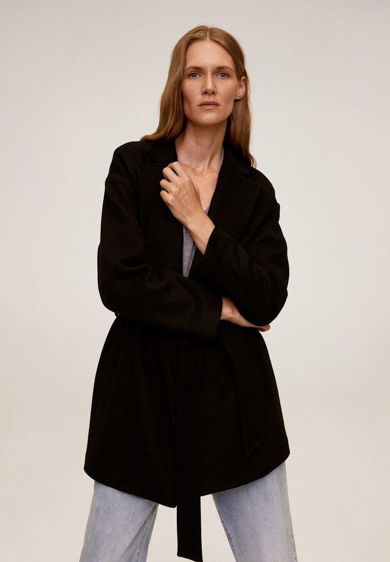 Mango - BREMEN-I - Short coat - black