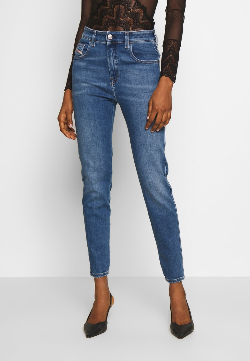 Diesel - D-SLANDY-HIGH - Jeans Skinny Fit - blue denim