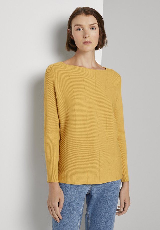 BATWING - Sweter - indian spice yellow