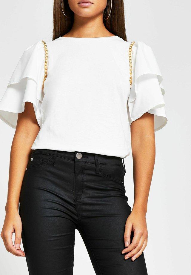 T-shirt imprimé - cream