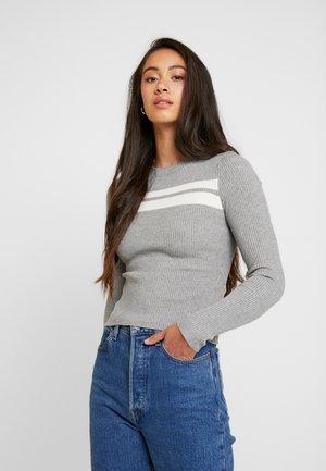 Sweter - grey/white
