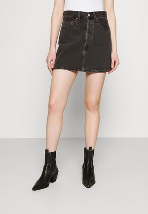 RIBCAGE SKIRT - Minifalda - washed noir black