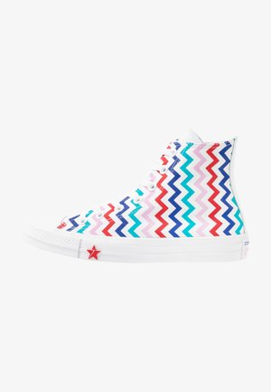 CHUCK TAYLOR ALL STAR - High-top trainers - white/university red/peony pink