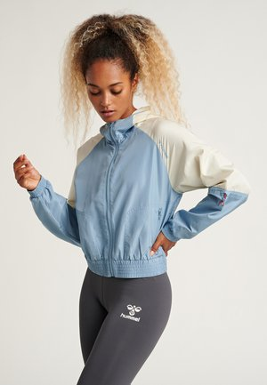 Training jacket - faded denim