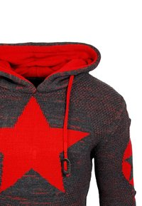 Rusty Neal - Hoodie - anthrazit / rot - 2