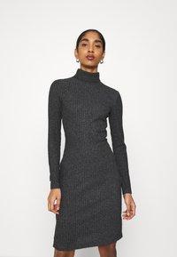 Even&Odd - Shift dress - mottled anthracite - 0
