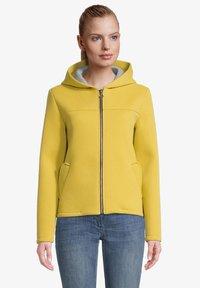 Amber & June - Sweater met rits - lemon curry - 0