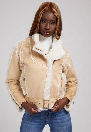 KUNSTPELZ - Winter jacket - beige