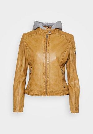ABBY - Leather jacket - camel