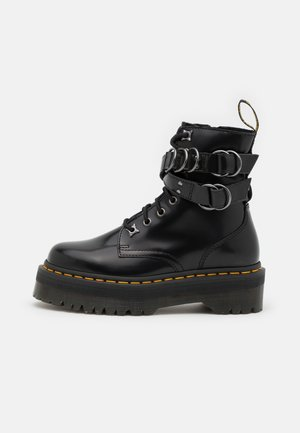 JADON HDW-8 EYE BOOT UNISEX - Lace-up ankle boots - black buttero