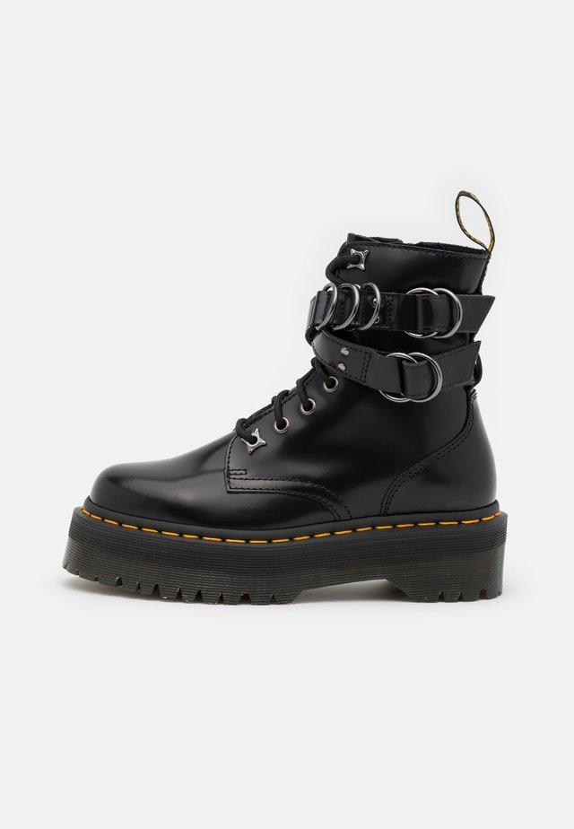 JADON HDW-8 EYE BOOT UNISEX - Šněrovací kotníkové boty - black buttero
