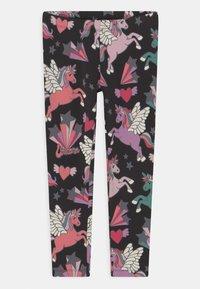 Lindex - UNICORN - Leggings - Trousers - off black - 0