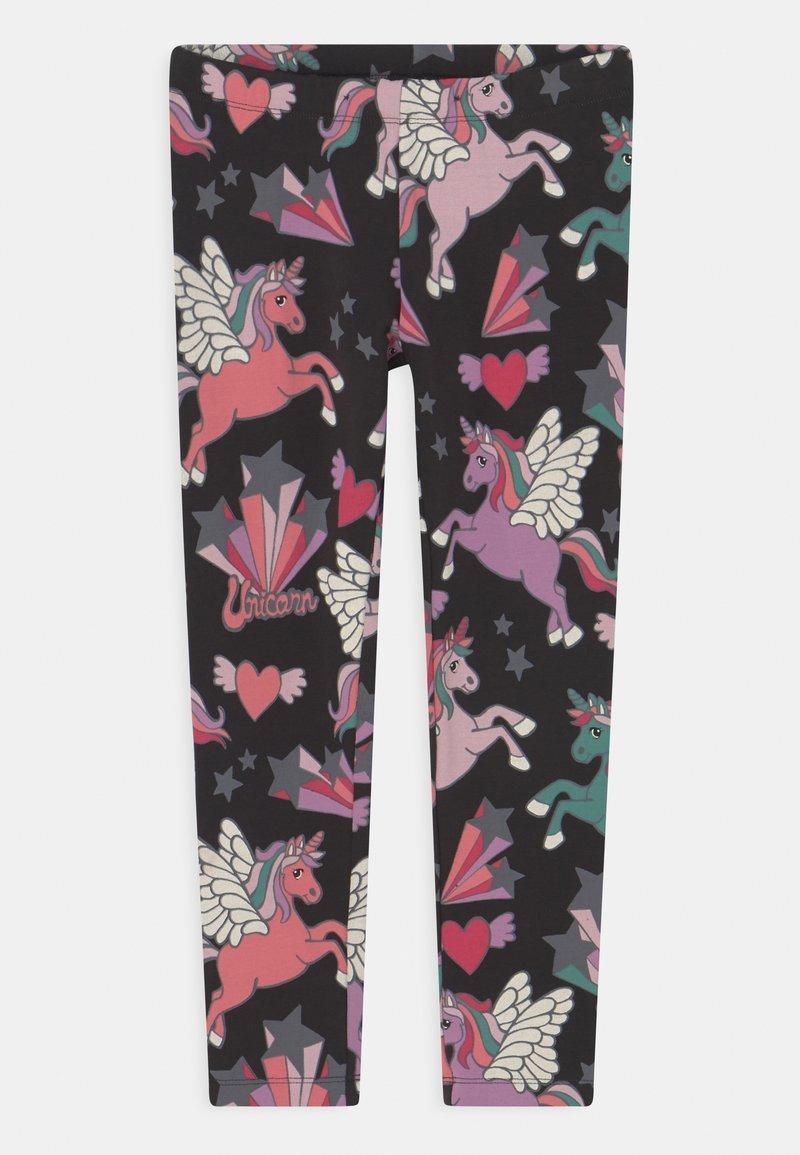 Lindex - UNICORN - Leggings - Trousers - off black