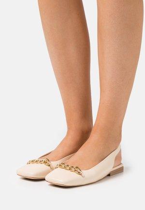 DUMBER - Slingback ballet pumps - ivoire