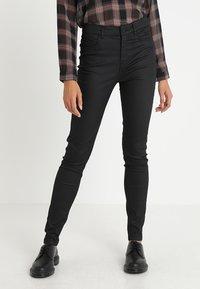 JDY - JDYELYN COATED - Jeans Skinny Fit - black - 0