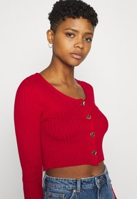 Monki - ALIANA CARDIGAN - Cardigan - red - 4