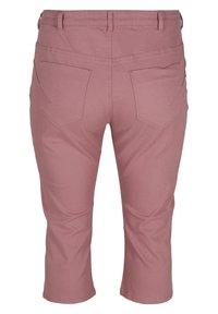 Zizzi - Denim shorts - dark rose - 5