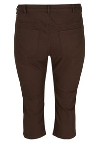 Zizzi - Denim shorts - dark brown - 5