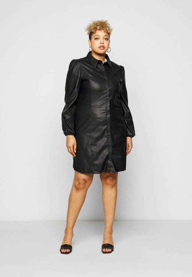 CARDIDDI DRESS - Shirt dress - black