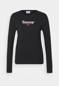 Tommy Jeans - ESSENTIAL LOGO LONGSLEEVE - Top sdlouhým rukávem - black - 3