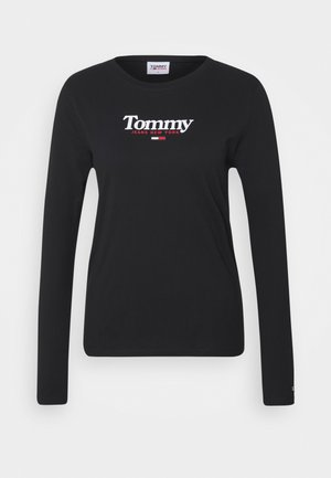 ESSENTIAL LOGO LONGSLEEVE - Long sleeved top - black