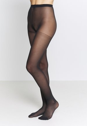 SEMI OPAQUE THIGHS BEAUTY RESIST 2 PACK - Tights - black