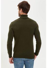 DeFacto - Stickad tröja - khaki - 1