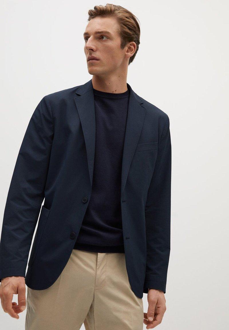 Mango - Z ERO - Blazer jacket - dunkles marineblau